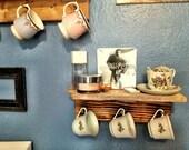 A Wooden Shelf.