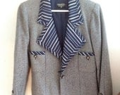 RESERVED (Vintage Chanel Blazer with Stripes & Gold chain)