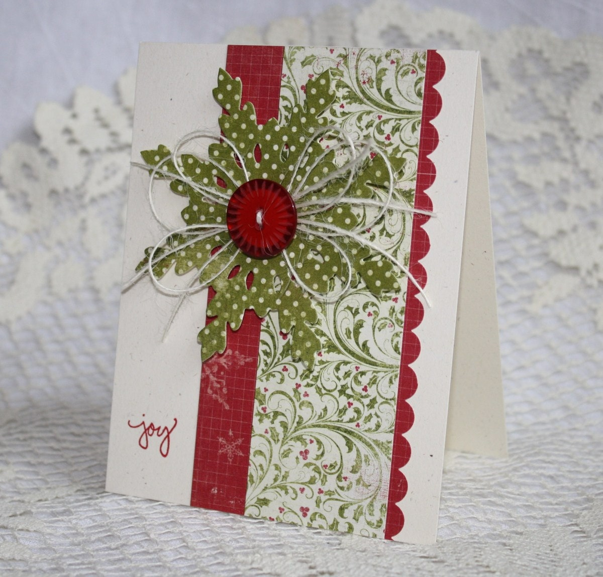 Handmade holiday christmas greeting card for Handmade christmas cards