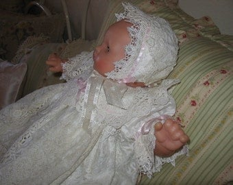 "Heirloom Infant Baptism/ Christening Gown.  ""Victoria"""