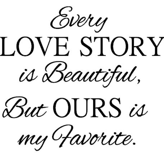 every love story decal love is beautiful decal