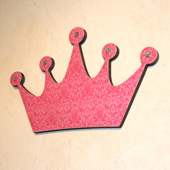 Baby Crown Wall Decor : Items similar to princess crown wall decor pink