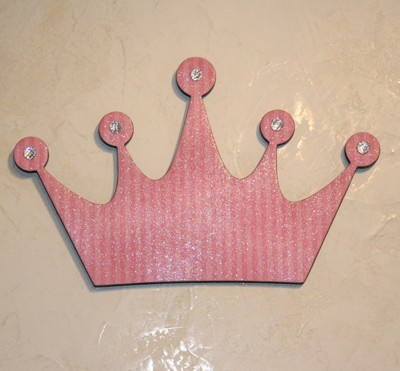 Pink princess princess crown wall decor pink wall decor for Pink wall art