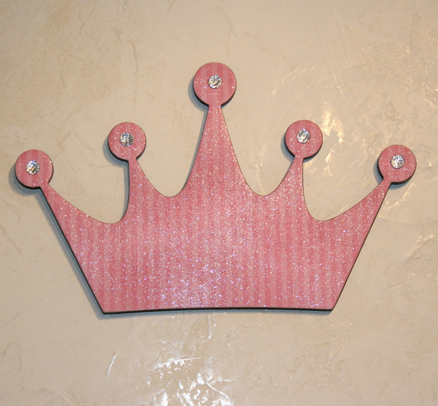 Black Crown Wall Decor : Pink princess crown wall decor