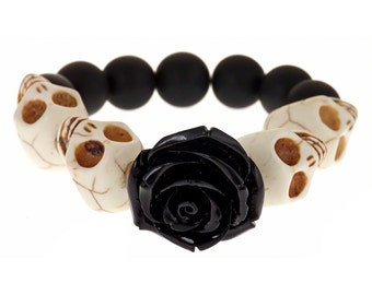 Dia De Los Muertos Bracelet (Black)