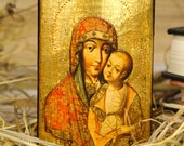 THE VIRGIN ELEOUSA - paint art russian iconography orthodox religious gift for mom sister parents godparents grandparent family