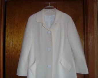 Winter White Dress Coat