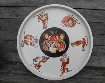 Esso Tiger metal serving tray 1960s