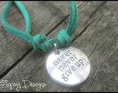 Never Never Give Up Bracelet