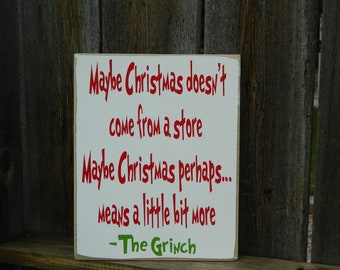 Christmas wood sign--Grinch board