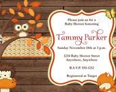 Rustic Woodland Baby Shower Invitation