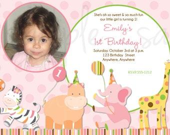 Sweet Safari Birthday Invitation