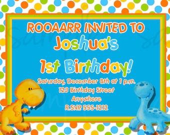 Little Dino Birthday Invitation