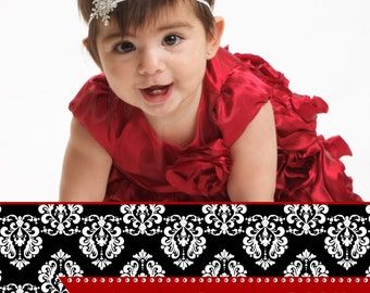 Christmas Card - Damask