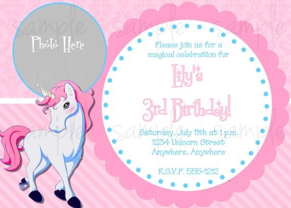 Unicorn Birthday Invitation By Lovelifeinvites On Etsy