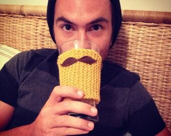 Mustache Coffee Sleeve.