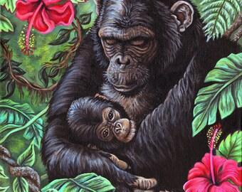 Chimpanzee Print