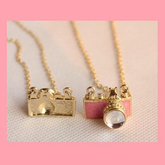 Camera Pendant Necklaces,