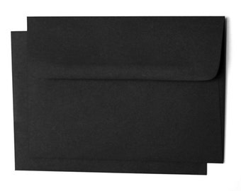 15  A6 A-6 Premium Eclipse Black Square-Flap Envelope - 5x7