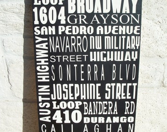 CUSTOM City Subway Art Sign 15-20 Streets/Landmarks of your choice TYPOGRAPHY,Wall Art,