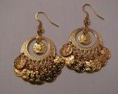 Gold plated handmade Gypsy Chandeleir type earrings
