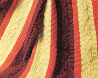 1970's Fabulous Coin Cable Knit Blanket Pattern