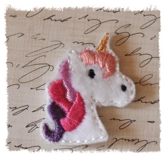 Unicorn Felt Embroidery Design Feltie By Dejahvuedesigns