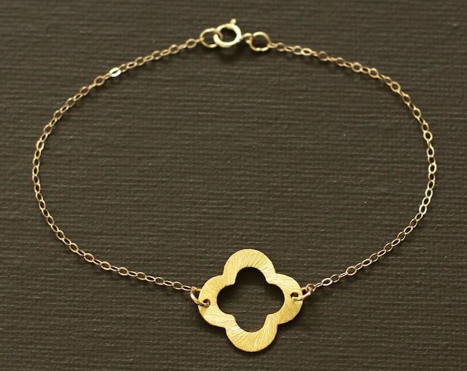 Gold Clover Bracelet - Vermeil