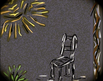 Boxed set of 4 foldover note cards from my original drawings.  Chair with a Memory.