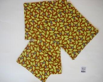kid cloth napkins and baby wipes set of 4- Safari Leaf