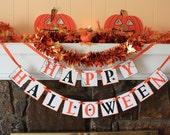 HAPPY HALLOWEEN BANNER - Halloween Banner Banners - Trick or treat Banner - Halloween Decoration