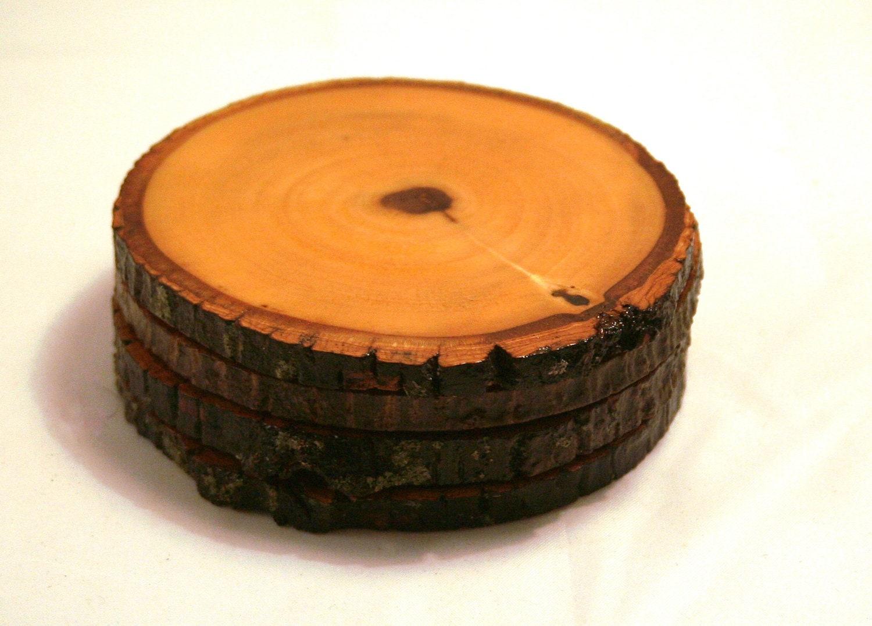 Handmade Wooden Coasters Tulip Poplar Rustic Reclaimed