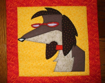 Mack the Knife - Applique Wall Hanging