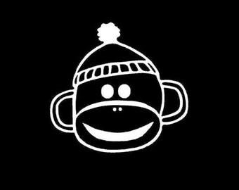 Sock Monkey Vinyl Decal