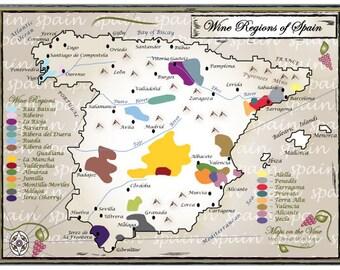 Wine Regions of Spain (8x10)