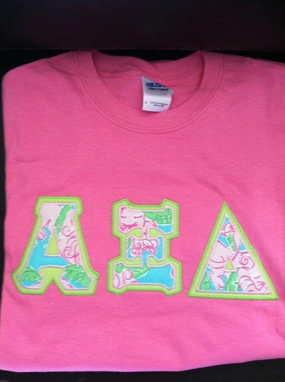 lilly pulitzer letter shirt jersey alpha delta pi zta alpha xi delta