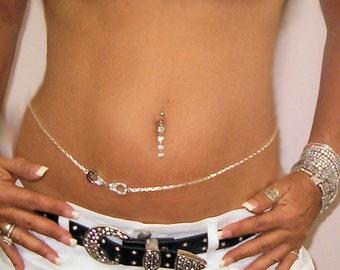 Handcuffs Rhinestone Hand designed By Beautifulstuff Belly chain on gorgeous box