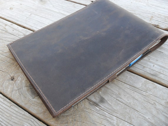 Leather Notepad Leather Cover With Hand Tooled Horse