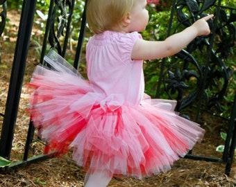 Red White and Pink Tutu - Valentine's Day Tutu, Flower Girl Tutu, Birthday Tutu, Baby Gift, Newborn, Toddler, Girl