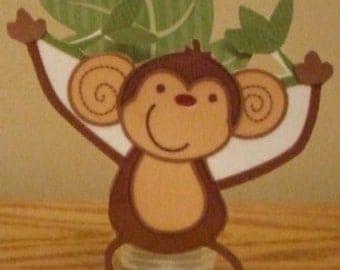 Adorable Jungle Safari Monkey Nursery Night Light