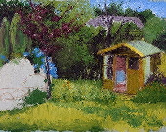 Summerhouse (unfinished) - fine art print