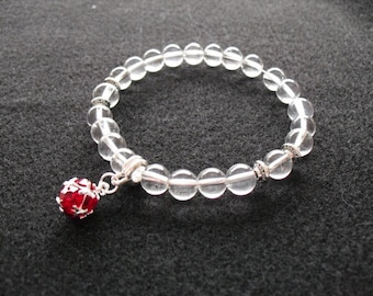 July (birthstone) red dangle bracelet