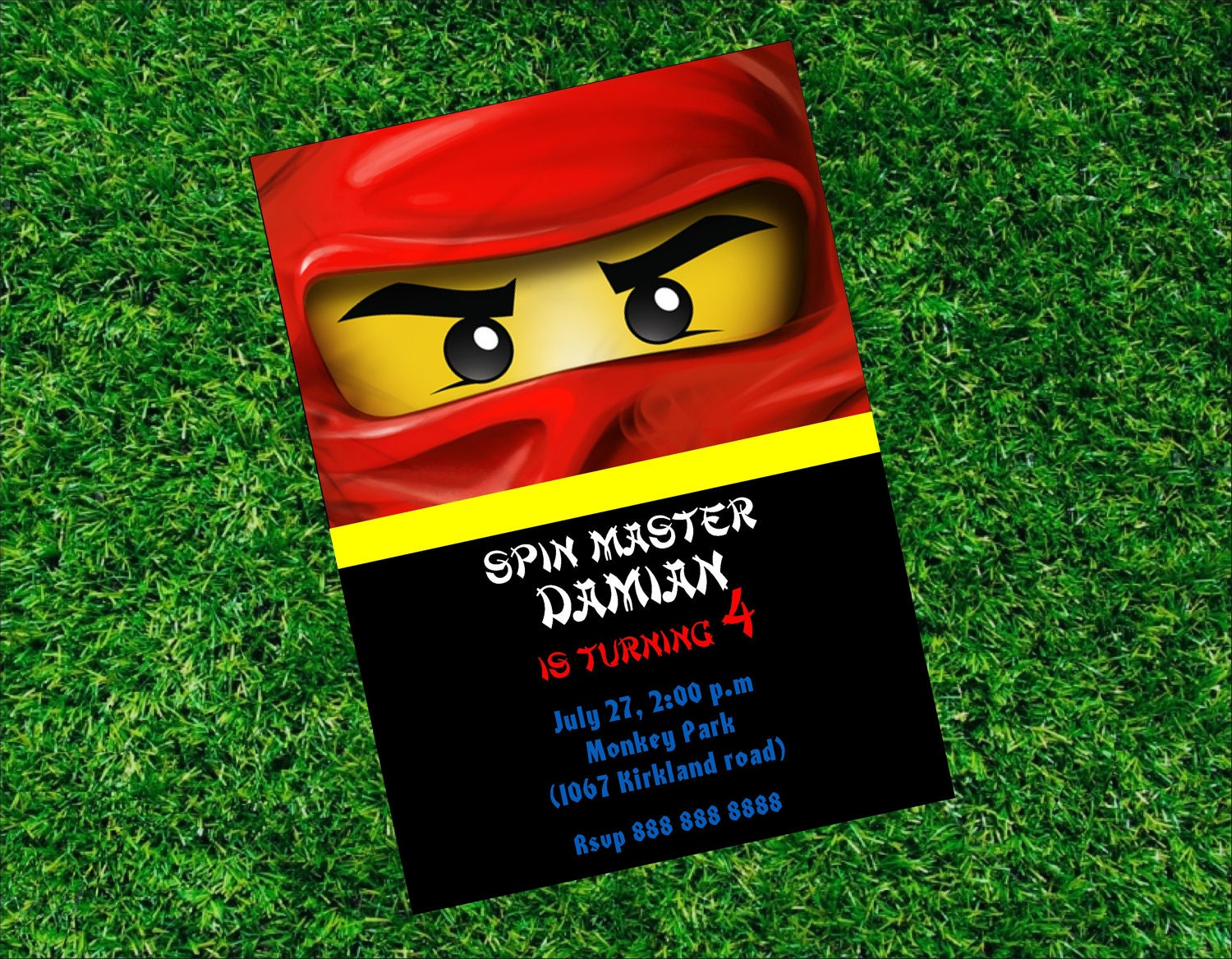 Ninjago Invitation Ninjago Birthday Invitation Ninjago