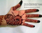 3 Freshly made Rajasthani Indian Henna Cones - DARK STAINING