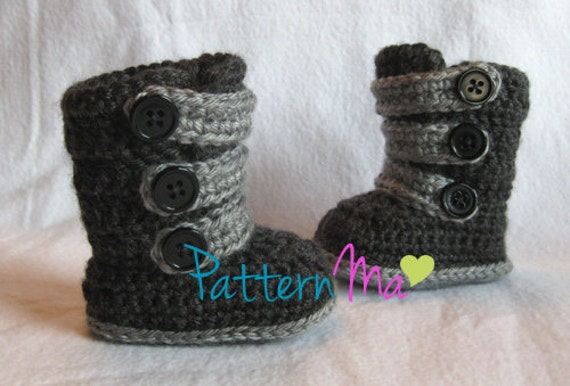 Crochet Pattern Strappy Baby Boots
