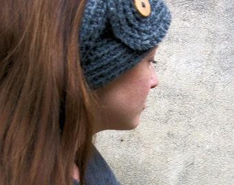Headband Ear Warmer Gray Head Warmer Grey Head Band Hair Accessory