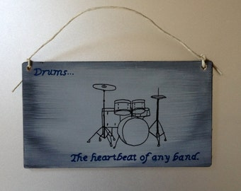 Drum Themed wall plaque