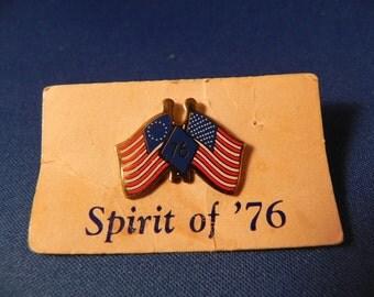 Vintage Lapel Flag Pin Spirit of 76