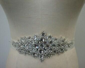 SALE  - Wedding Belt, Bridal Belt, Crystal Rhinestone Belt - Style B112