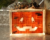Lighted Halloween/Jack-0-Lantern Glass Block